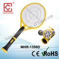 Multifuncional recarregável com led& lanterna elétrica recarregável bug zapper raquete