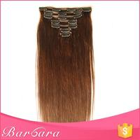 low MOQ wholesale 6A grade 30 inch human hair extensions clip in