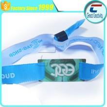 Programmable color rainbow fabric wristband custom rfid wristband cheap