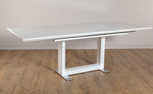 high gloss wooden white modern dining table