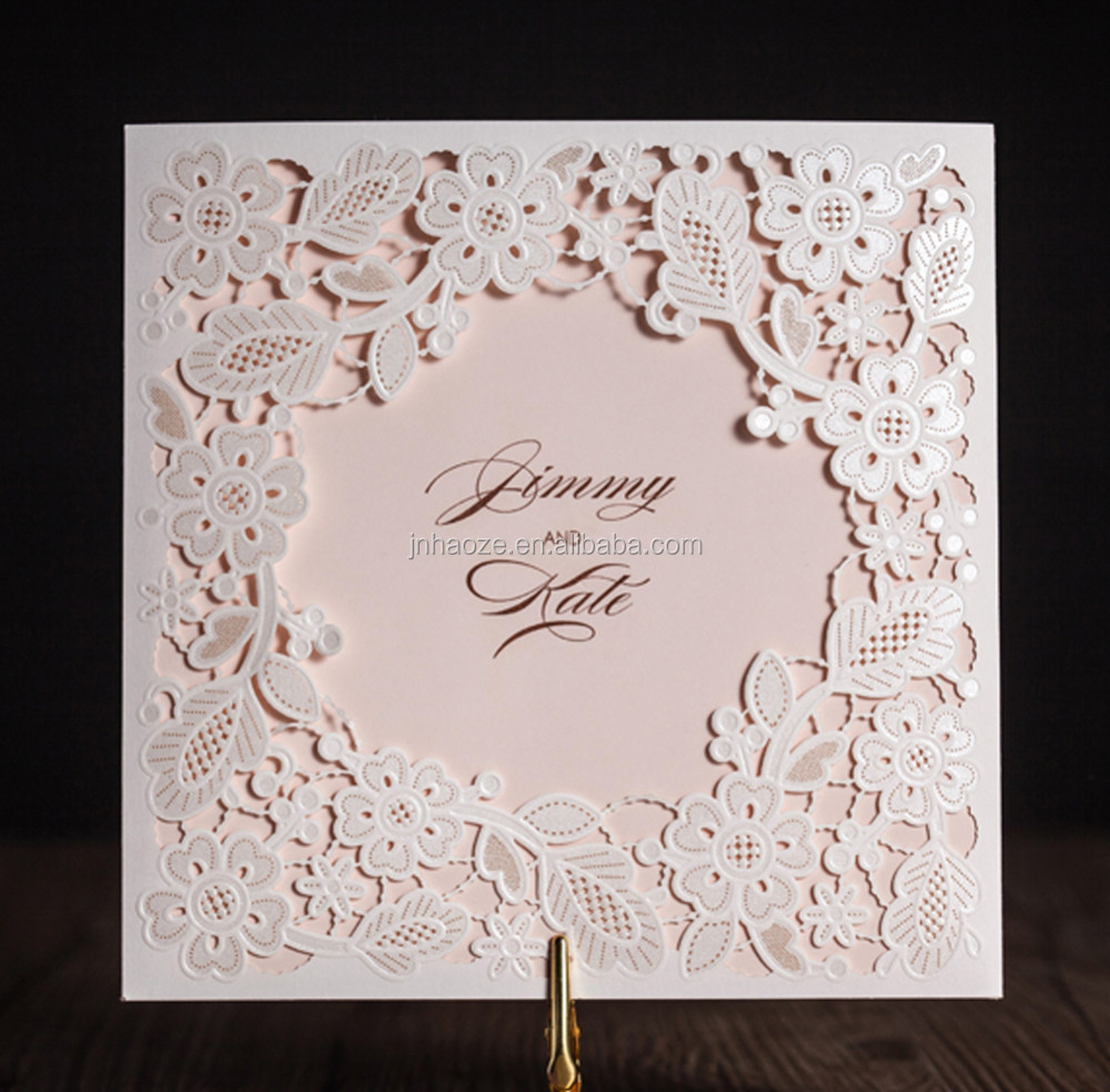 Wishmade Embossed Flower Design Art Paper 3d Wedding Invitation Card ...