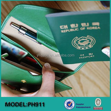 2015 new arrival super slim Leather travel passport holder wallet case