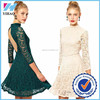 Novel designs 2015 New Women Sexy Club Dress Stitching Lace Backless Bandage party dress for women trade assurance