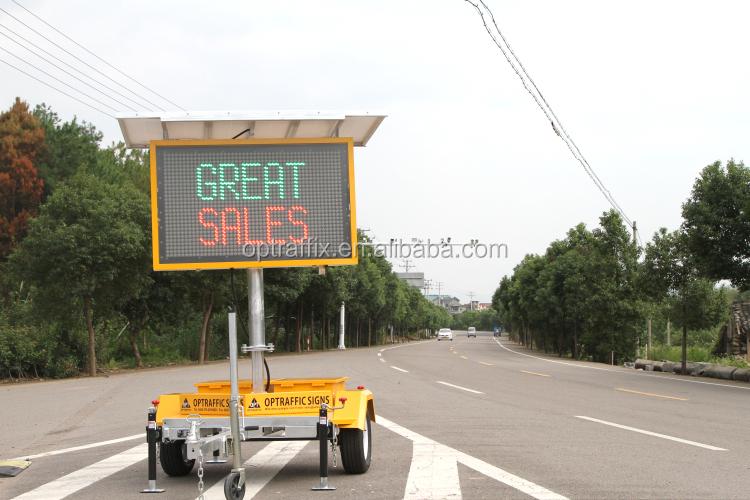Optraffic gros solaire led affichage traffic message bord for Panneau affichage led exterieur