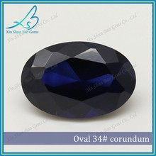 Good polish 34# synthetic blue sapphire prices