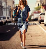 CHEFON Neon Colored Trim Slit Women Kaftan Dress Designs