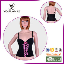Wholesale Wide Style Slimming Lace Up Strapless Corset Bodysuit