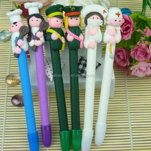 Cute and lovely nurse fresh color Popular style polymer clay gifs pencil and promotional pen to be first rank in crossbow line