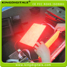 wireless control (WIFI/PC/IPAD/Mobile Phone) pitch 10mm single red color led sign