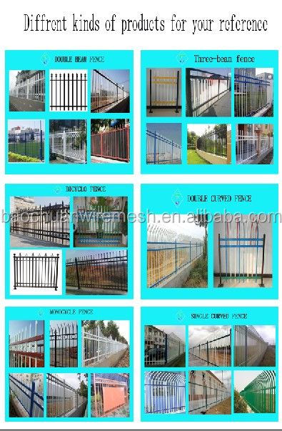 precio barato pintura en polvo galvanizado recubierto cercas acero corten
