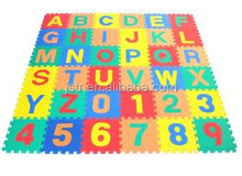Non-Toxic Alphabet Letters & Counting Numbers (A-Z, 0-9) Non-Recycled Quality Soft Foam Learning Waterproof Playmats