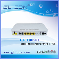 GL-8080 WIFI ONU VOIP Telephone FTTH Triple play epon ONU(optical network unit)