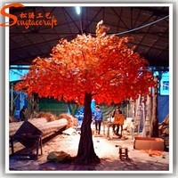 Factory wholesale outdoor Canadian artificial fake maple bonsai maple wood leafs for sale