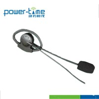Two way radio referee headset with in-line PTT and adjustable D shape (PTE-181)