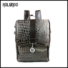 Cheap wholesale leather goods fancy backpack pattern from china