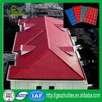 pure black color lasting composite high quality fireproof synthetic roof tile for house