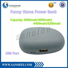 Newest Hight Quality Sanofee Stone 5200mah Power Bank for iPhone, Samsung Galaxy, Nokia, HTC, LG