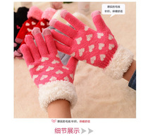 Wholesale Fashion wool and acrylic gloves acrylic knit magic beautiful comfortable Screen Glove for Cell Phones Glove