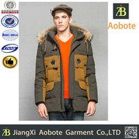 OEM Manufacture Customized Outdoor Fur Collar Coat Men
