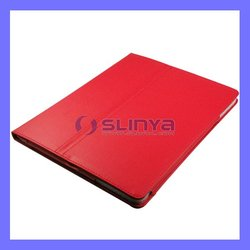 Cheappest Customized PU Leather Stand Case for iPad 4 3 2