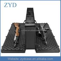 Durable Double Side Gun Box Aluminum Black Hard Rifle Case ZYD-HZMgc020
