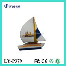PVC sailing ship shape usb 8 gb, boat shape usb 1gb cheap , sailing boat shaped pen drive customized