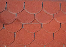Red 5-tab fiberglass asphalt shingles roofing material
