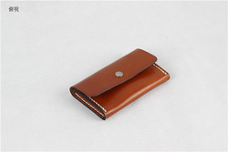 Natural leather wallet card id card holder wallet Handmade