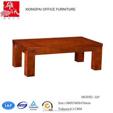 Popular Chinese low height wood coffee table L07