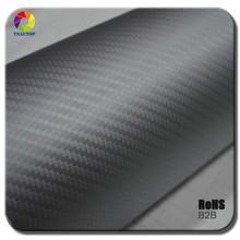 top quality TS 3d carbon fiber wraps car stickers 3d carbon fiber film air free 3d carbon fiber film Black