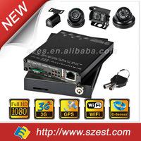 2014 New 4-channel 3G + WIFI download + G-Sensor + GPS + Full HD 1080P Vehicle Blackbox DVR Manual