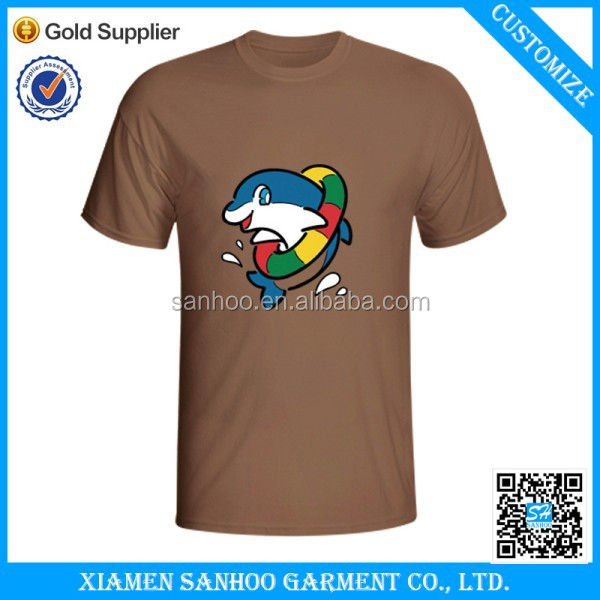 Hot Sell Silk Print Tshirts With Your Logo And Text On