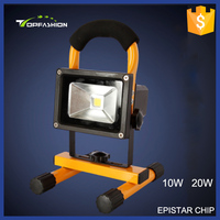 2015 new products high power high lumen 10w 20w high lumen Portable Battery Powered dimmable led flood light