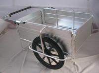 Foldable aluminium hand push cart Folding utility hand trolley Collapsible aluminium hand cart