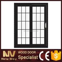 double glass door with venetian blind double sliding door for kitchen double slide door