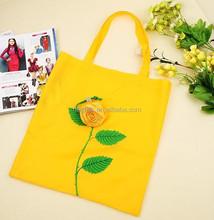 (SH0283) Rose Folding Shopping Bag Wholesale
