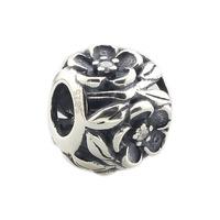 Wholesale Crystal Flower Bead Genuine 925 Sterling Silver Charm for European Bracelet