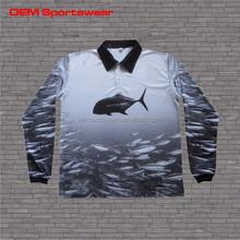 Moisture wicking long sleeve custom fishing shirt