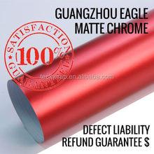 Good Quality 1.52*20M Air Bubble Free Gray Metallic Matte Chrome Vinyl Wrap For Factory Price Car Matte Chrome