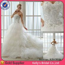 High end china factory direct wedding dress 2015