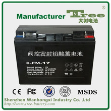 Maintenance free Deep cycle rechargeable storage batteries high quality solar system 12v 17ah GEL battery