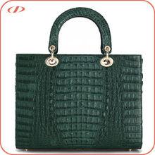 Luxury quality women genuine crocodile skin handbag