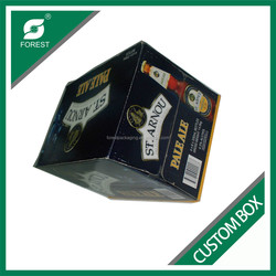 CHEAP CUSTOMIZED 24 PACK BOTTLES BEER CARRIERS WITH DIVIDERS CORRUGATED 330ML WINE SHIPPING BOX
