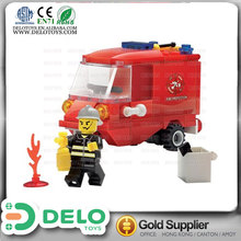baby safety products plastic building block toy mold maker mini fire truck mini toys for kids DE0195095