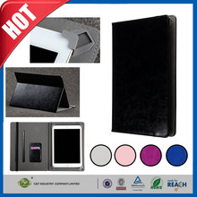 C&T Customized black leather wallet cover protective case for ipad pro