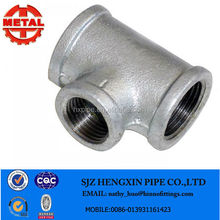 Electric Galvanized BS thread banded end Reducing Tee made in china