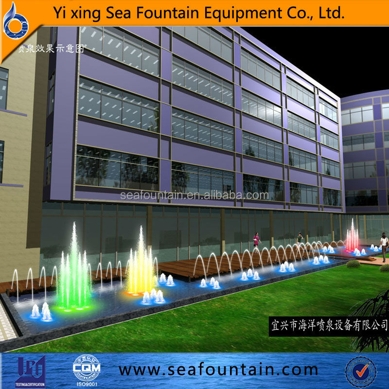 Outdoor Water Fountain Design Drawing Music Fountain