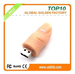 Low factory price lovely thumb shape usb flash drive 32gb for promotion gift