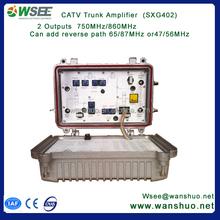cable line extender /cable tv trunk amplifier ,return path42/54,35gain
