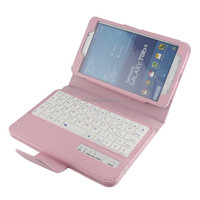 Wiht USD charging line wired keyboard for samsung tab4 t230 t231flip case for 7 inch tablet
